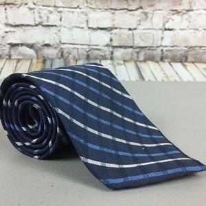 Tommy Hilfiger Blue Plaid Tie 100% Silk